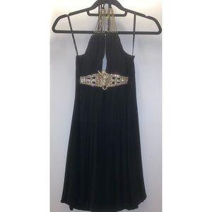 Sky black halter dress - size XS